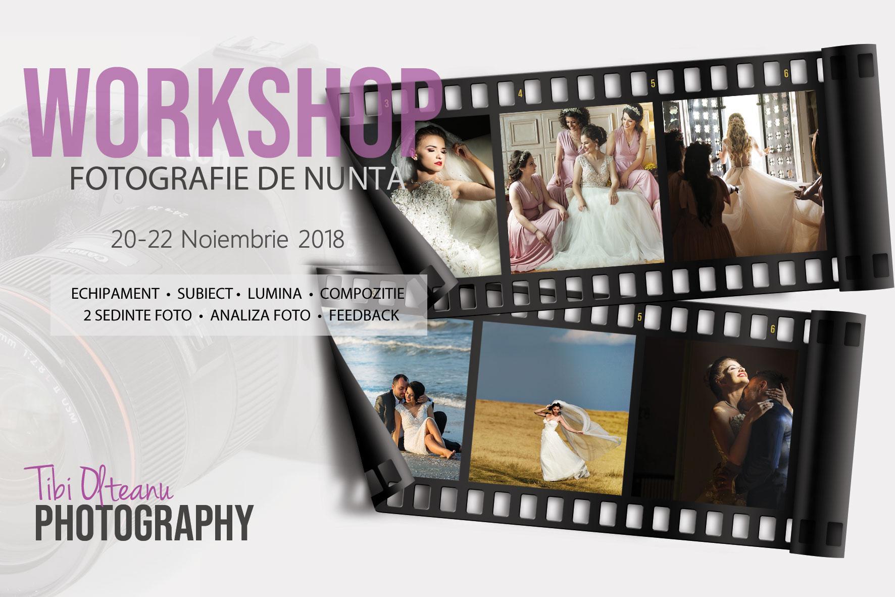 WORKSHOP fotografie de nunta